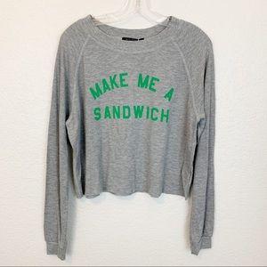 NWT Wildfox Make Me A Sandwhich Sweater